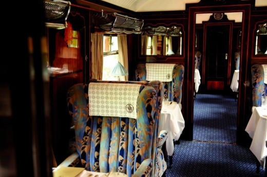 Enjoy a fine dining Champagne lunch aboard the Belmond British Pullman