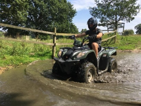 Quad biking experience for 2