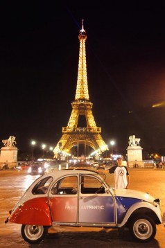 2cv tour paris by night for 3. Black Bedroom Furniture Sets. Home Design Ideas