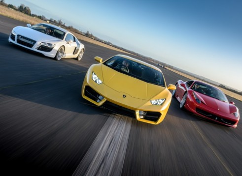 Triple Supercar Drive with a Hot Ride Thrill - 3 Miles