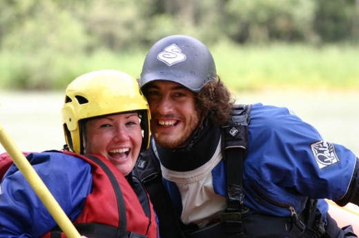 White water rafting in UK for two
