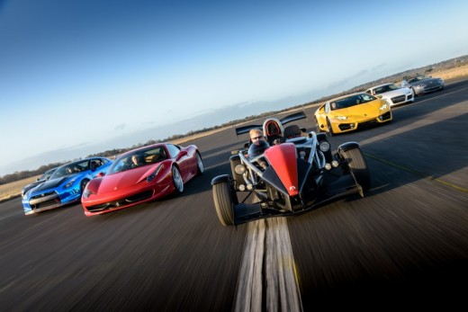 Quadruple Supercar Drive with a Hot Ride Thrill - 3 Miles