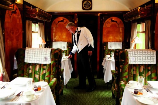 Enjoy murder mystery fine dining aboard the Belmond British Pullman